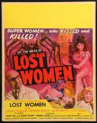 7d047 MESA OF LOST WOMEN jumbo WC 1952 grown up Jackie Coogan vs super women who kissed & killed!