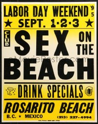 7d048 SEX ON THE BEACH jumbo WC 1995 Rosarito Beach in the Mexican state of Baja California!