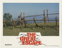 7g027 GREAT ESCAPE Aust LC R1981 image of Steve McQueen jumping near fence on his motorcycle!