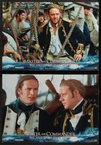 7g070 MASTER & COMMANDER 8 German LCs 2003 Russell Crowe, Paul Bettany, directed by Peter Weir!