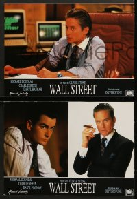 7g080 WALL STREET 12 Spanish LCs 1988 Michael Douglas, Charlie Sheen, Daryl Hannah, Oliver Stone!