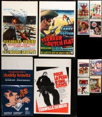 7m384 LOT OF 12 FORMERLY FOLDED VERTICAL BELGIAN POSTERS 1960s-1970s from a variety of movies!