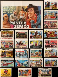 7m377 LOT OF 24 FORMERLY FOLDED HORIZONTAL BELGIAN POSTERS 1960s-1970s from a variety of movies!
