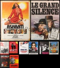 7m375 LOT OF 10 FORMERLY FOLDED 15X21 FRENCH POSTERS 1960s-1990s a variety of movie images!