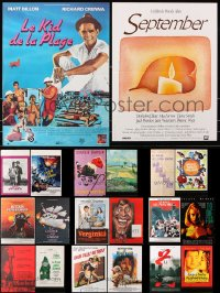 7m367 LOT OF 20 FORMERLY FOLDED 15X21 FRENCH POSTERS 1970s-1990s a variety of movie images!