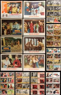 7m203 LOT OF 88 LOBBY CARDS 1950s-1960s incomplete sets from a variety of different movies!