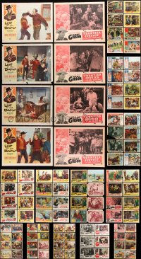 7m200 LOT OF 126 WESTERN LOBBY CARDS 1940s-1960s incomplete sets from several cowboy movies!