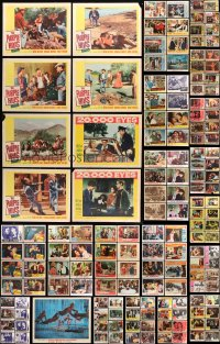 7m189 LOT OF 241 LOBBY CARDS 1940s-1960s incomplete sets from a variety of different movies!