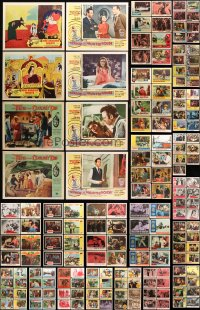 7m192 LOT OF 215 LOBBY CARDS 1950s-1960s incomplete sets from a variety of different movies!