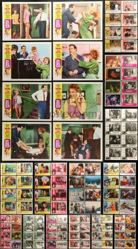 7m196 LOT OF 152 LOBBY CARDS 1960s complete sets from a variety of different movies!