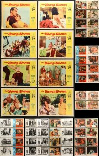7m204 LOT OF 84 LOBBY CARDS 1960s complete sets from a variety of different movies!