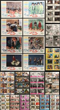 7m201 LOT OF 112 LOBBY CARDS 1960s-1980s complete sets from a variety of different movies!