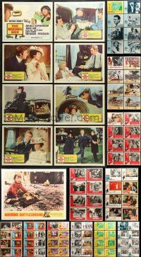 7m202 LOT OF 105 LOBBY CARDS 1960s complete sets from a variety of different movies!