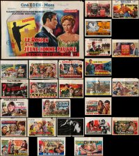 7m376 LOT OF 28 FORMERLY FOLDED HORIZONTAL BELGIAN POSTERS 1960s-1970s from a variety of movies!