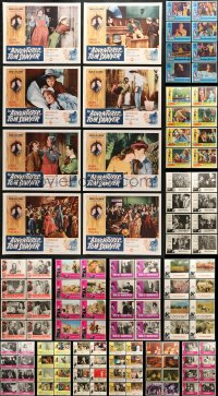 7m197 LOT OF 144 LOBBY CARDS 1960s-1980s complete sets from a variety of different movies!