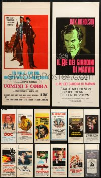 7m366 LOT OF 14 FORMERLY FOLDED ITALIAN LOCANDINAS 1960s-1980s from a variety of different movies!