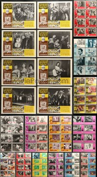 7m198 LOT OF 137 LOBBY CARDS 1960s-1980s complete sets from a variety of different movies!