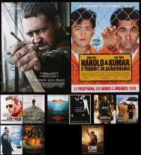 7m372 LOT OF 15 FORMERLY FOLDED 15X21 FRENCH POSTERS 2000s-2010s from a variety of movies!