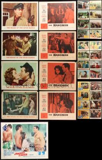 7m207 LOT OF 41 ROBERT TAYLOR LOBBY CARDS 1950s-1960s D-Day the Sixth of June, Hangman & more!