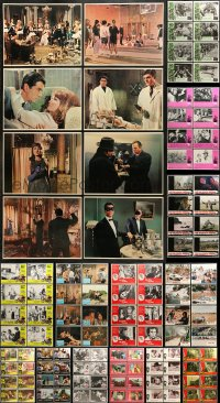 7m199 LOT OF 128 LOBBY CARDS 1960s-1980s complete sets from a variety of different movies!