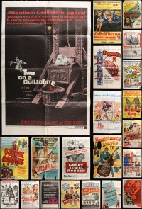 7m177 LOT OF 28 FOLDED ONE-SHEETS 1940s-1970s great images from a vareity of different movies!