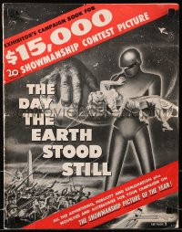 7s157 DAY THE EARTH STOOD STILL pressbook 1951 classic art of Gort & Patricia Neal, bound in herald!