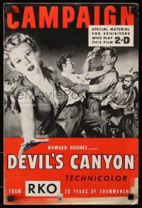 7s173 DEVIL'S CANYON 2D pressbook 1953 artwork of sexy Virginia Mayo, Dale Robertson, Savage Nights!