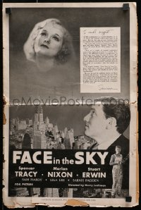 7s197 FACE IN THE SKY pressbook 1933 Spencer Tracy looks at Marian Nixon over New York City, rare!