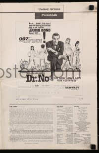 7s180 DR. NO pressbook 1963 Sean Connery in James Bond's first movie, alternate 6-page version!