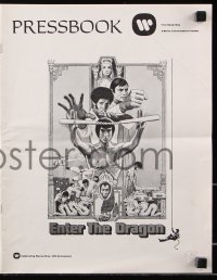 7s194 ENTER THE DRAGON pressbook 1973 Bruce Lee kung fu classic, includes color comic herald!