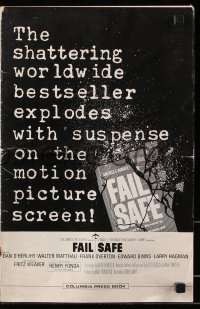 7s200 FAIL SAFE pressbook 1964 the shattering worldwide bestseller directed by Sidney Lumet!