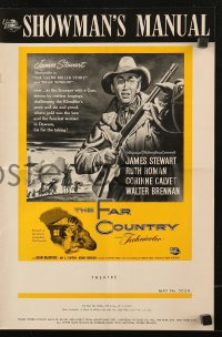 7s203 FAR COUNTRY pressbook 1955 cool art of James Stewart with rifle, directed by Anthony Mann!
