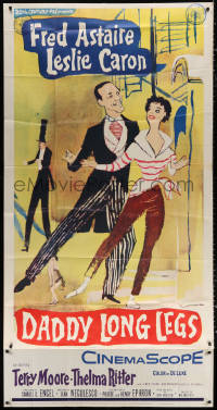 7t205 DADDY LONG LEGS 3sh 1955 wonderful full-length art of dancing Fred Astaire & Leslie Caron!