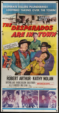 7t211 DESPERADOS ARE IN TOWN 3sh 1956 desperate killers plundering, looting & taking over the town!