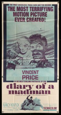 7t213 DIARY OF A MADMAN 3sh 1963 Vincent Price in his most chilling portrayal of evil!