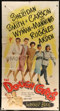 7t216 DOUGHGIRLS 3sh 1944 sexy Ann Sheridan, Alexis Smith & Jane Wyman at home during WWII!
