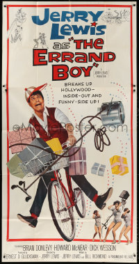 7t219 ERRAND BOY 3sh 1962 screwball Jerry Lewis breaks up Hollywood inside-out & funny-side up!