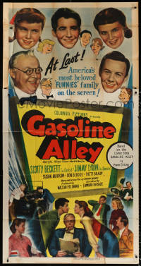 7t229 GASOLINE ALLEY 3sh 1951 Scotty Beckett as Corky, Jimmy Lydon as Skeezix, Frank O. King comic!