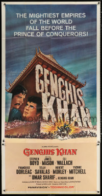 7t232 GENGHIS KHAN 3sh 1965 Omar Sharif as the Mongolian Prince of Conquerors, Frank McCarthy art!