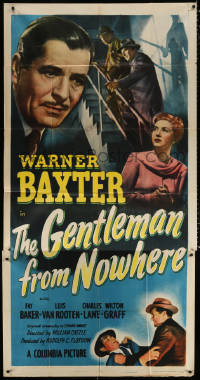 7t233 GENTLEMAN FROM NOWHERE 3sh 1948 Warner Baxter is paid to pose as Fay Baker's husband!