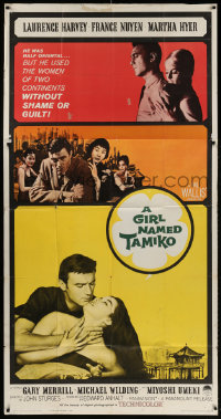 7t234 GIRL NAMED TAMIKO 3sh 1962 John Sturges, Laurence Harvey used women without shame!