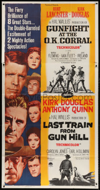 7t240 GUNFIGHT AT THE OK CORRAL/LAST TRAIN FROM GUN HILL 3sh 1963 double-barreled excitement!
