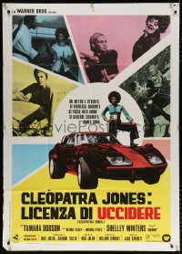 7t828 CLEOPATRA JONES Italian 1p 1973 dynamite Tamara Dobson is the hottest super agent ever!