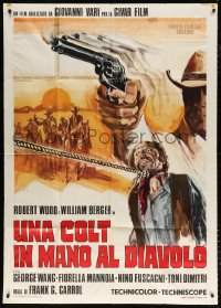 7t824 COLT IN THE HAND OF THE DEVIL Italian 1p 1972 Robert Woods, wild spaghetti western art!