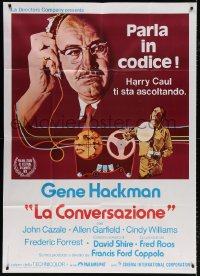 7t820 CONVERSATION Italian 1p 1974 Gene Hackman is an invader of privacy, Francis Ford Coppola