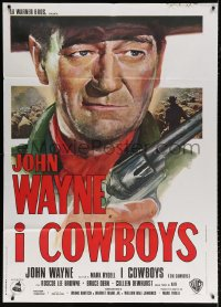 7t817 COWBOYS Italian 1p 1972 big John Wayne gave these young boys their chance to become men!