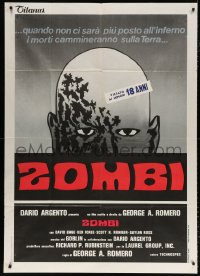 7t812 DAWN OF THE DEAD Italian 1p 1978 George Romero, there's no more room in HELL for the dead!