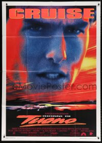 7t811 DAYS OF THUNDER Italian 1p 1990 close image of angry NASCAR race car driver Tom Cruise!