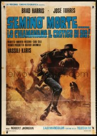 7t805 DEATH IS SWEET FROM THE SOLDIER OF GOD Italian 1p 1972 cool spaghetti western art by Franco!