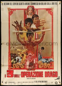 7t785 ENTER THE DRAGON Italian 1p 1973 Bruce Lee kung fu classic, the movie that made him a legend!